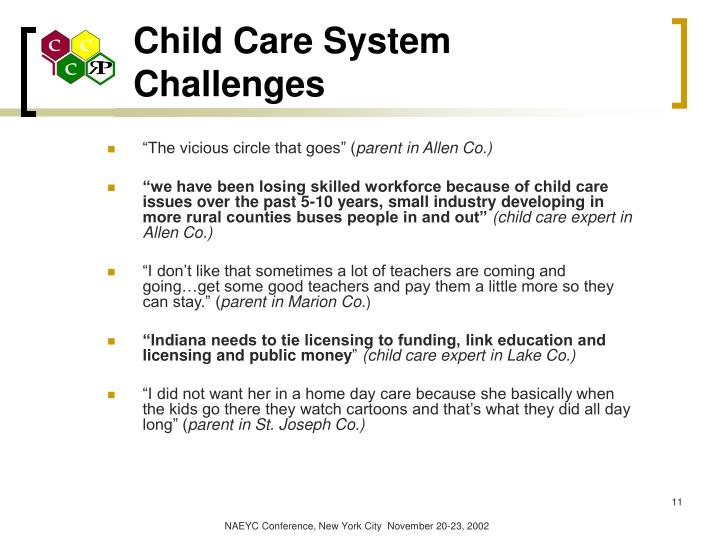 Child Care System Challenges