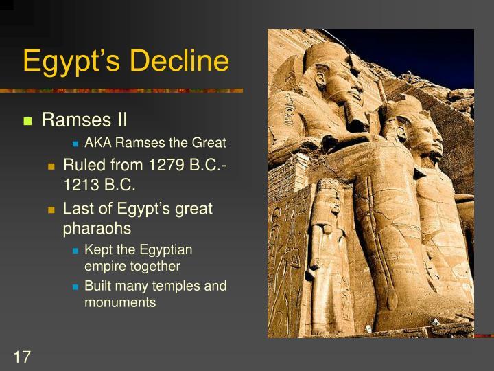 Egypt's Decline