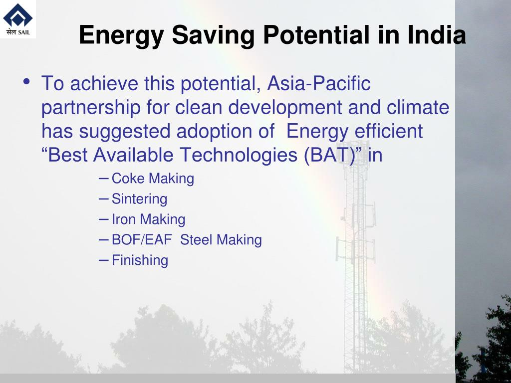 Energy Saving Potential in India