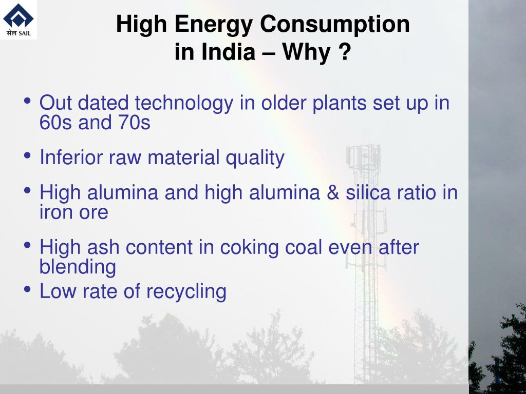 High Energy Consumption