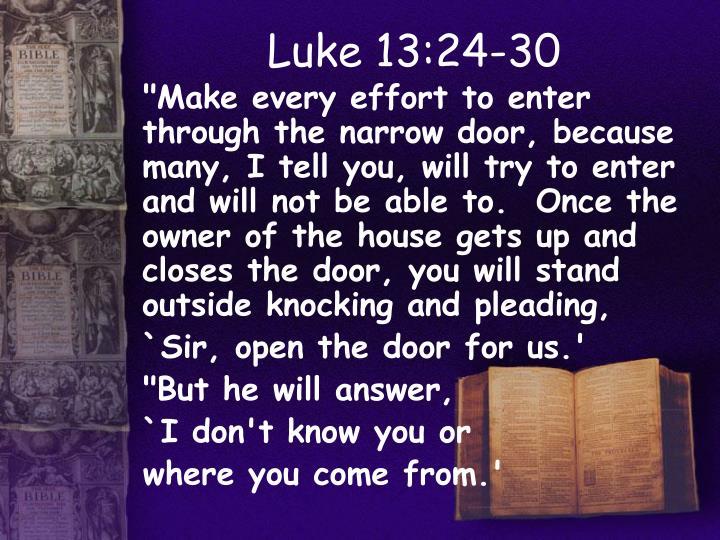 Luke 13:24-30
