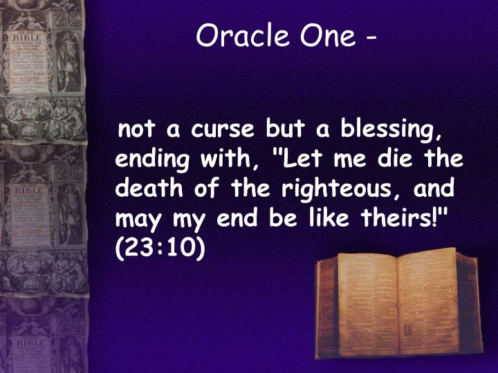 Oracle One -