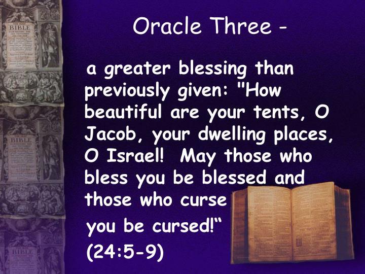 Oracle Three -