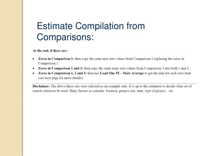 Estimate Compilation from Comparisons: