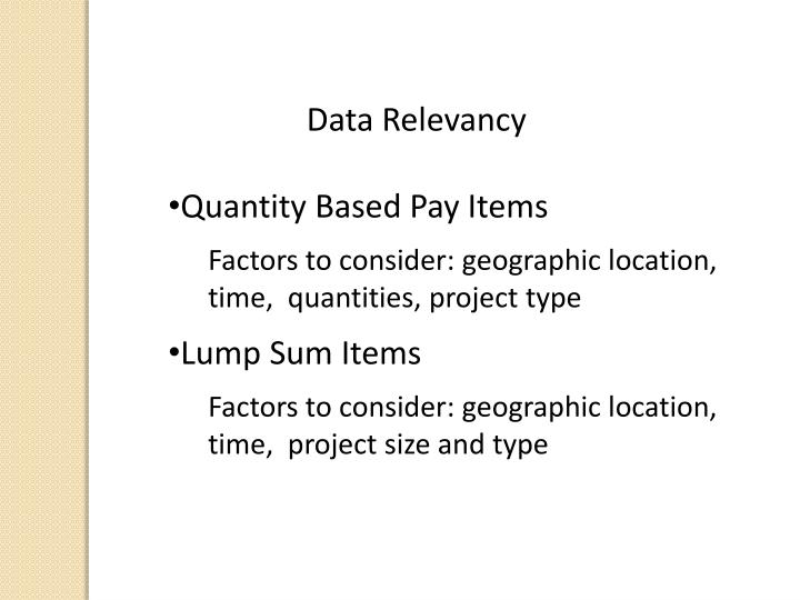 Data Relevancy