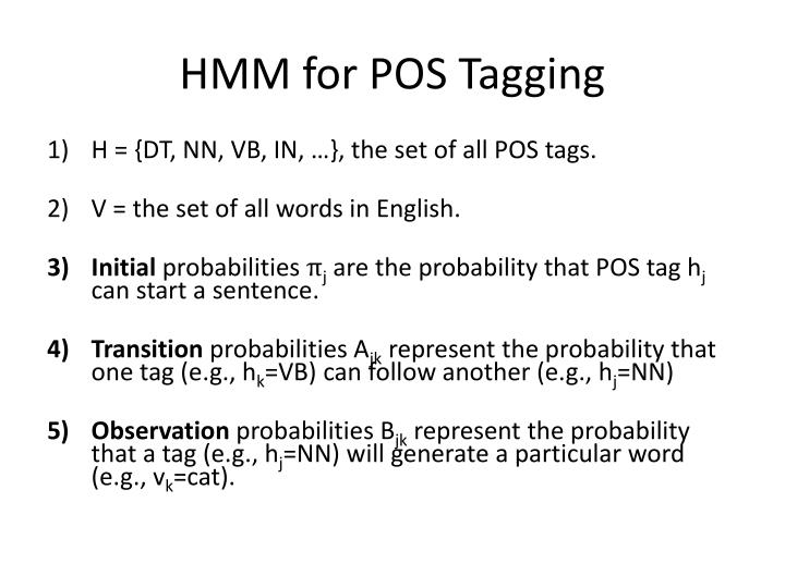 HMM for POS Tagging
