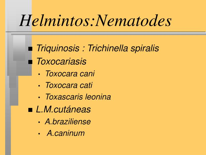 Helmintos:Nematodes