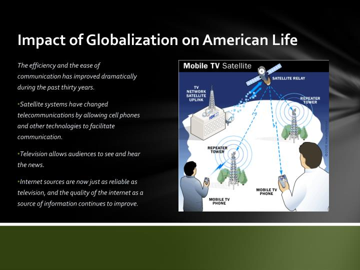 Impact of Globalization on American Life