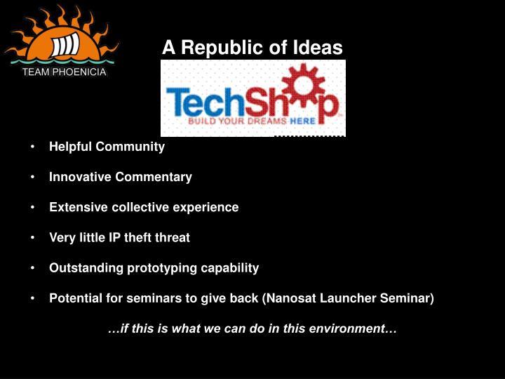 A Republic of Ideas