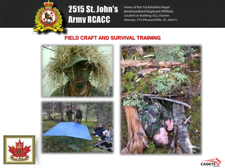 FIELD CRAFT AND SURVIVAL TRAINING