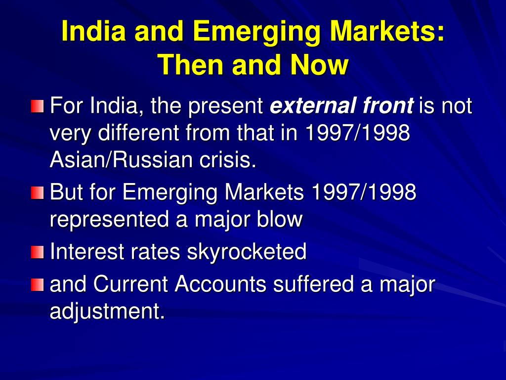 India and Emerging Markets: