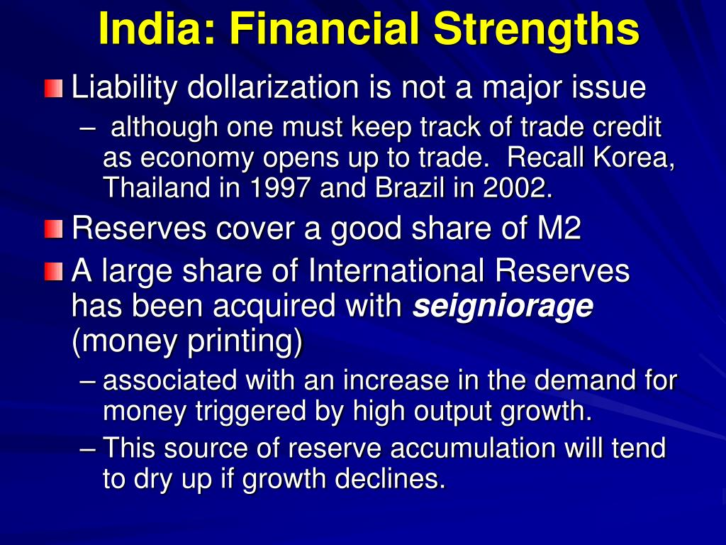 India: Financial Strengths