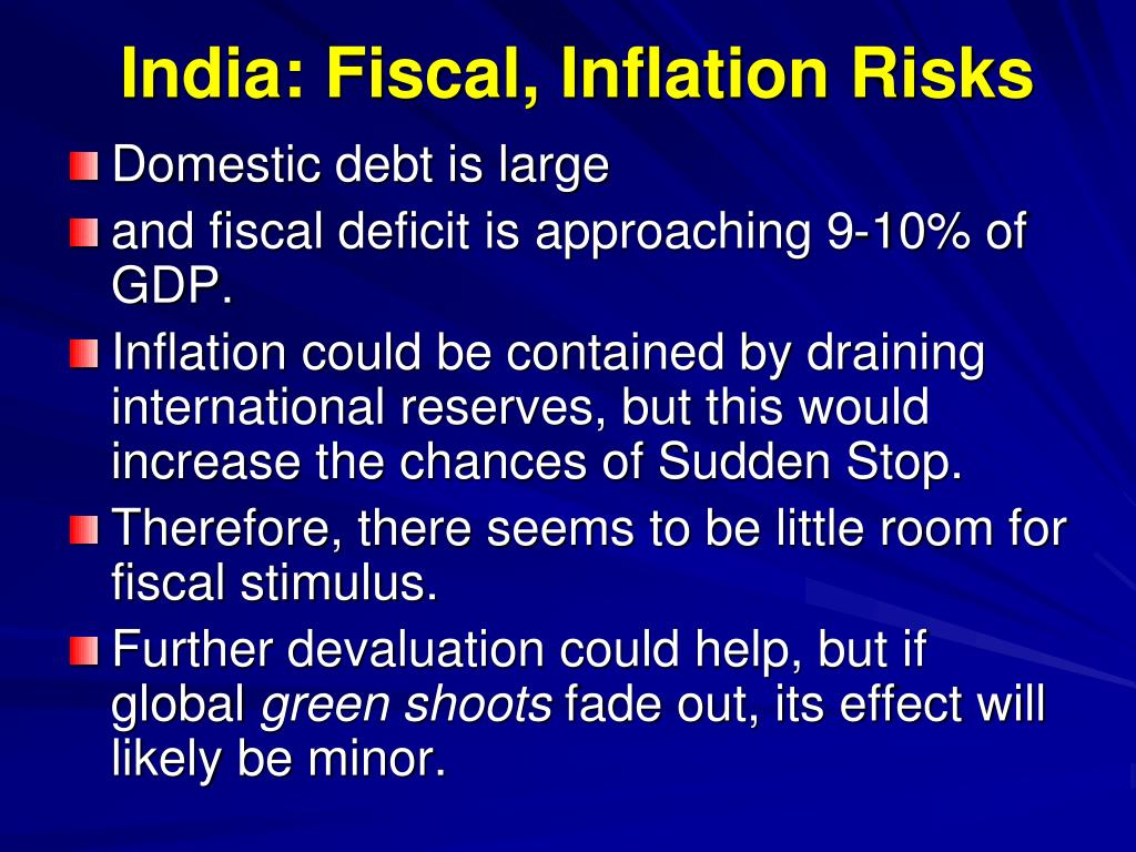 India: Fiscal, Inflation Risks