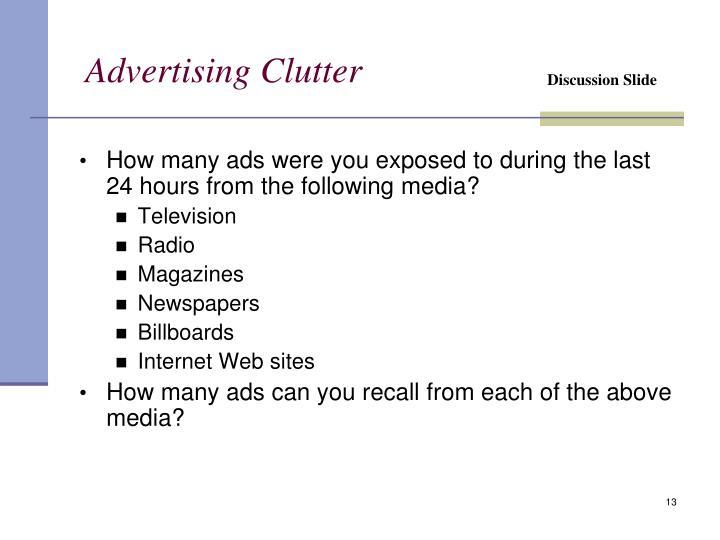 Advertising Clutter