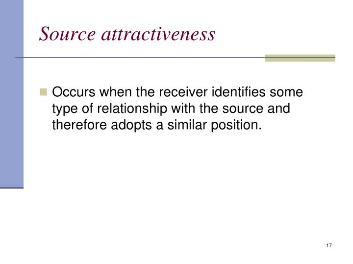Source attractiveness