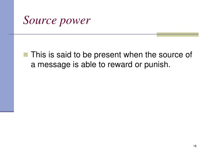 Source power