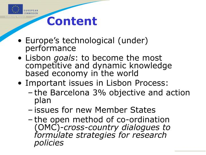Europe's technological (under) performance