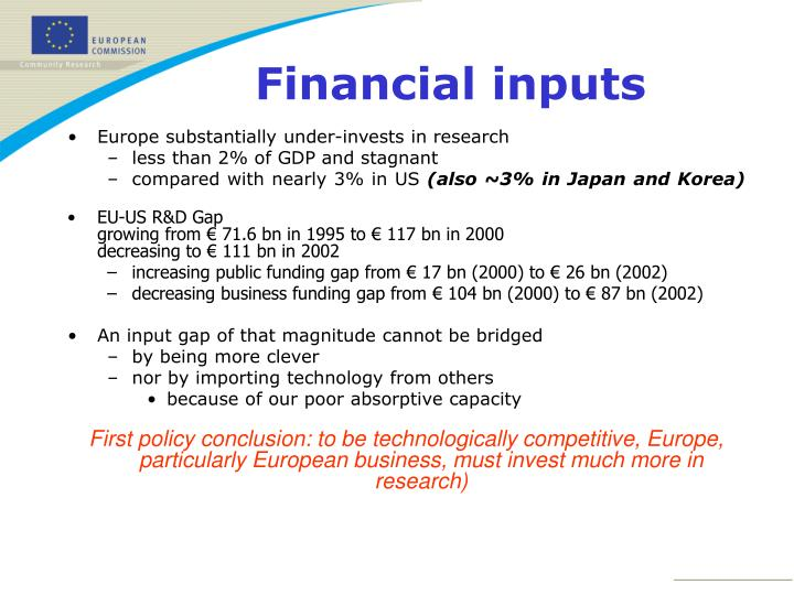Europe substantially under-invests in research