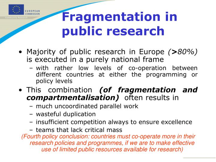 Majority of public research in Europe