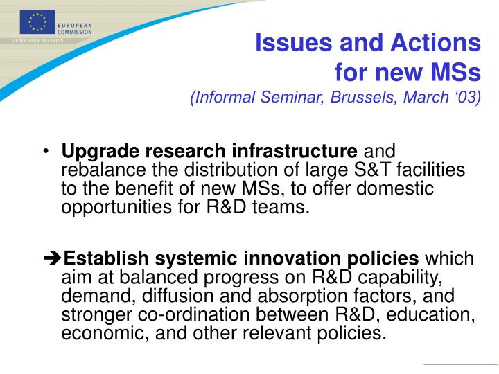 Upgrade research infrastructure