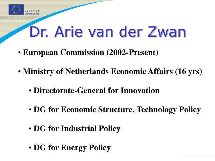 Dr. Arie van der Zwan