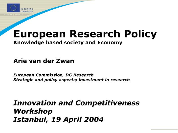 European Research Policy