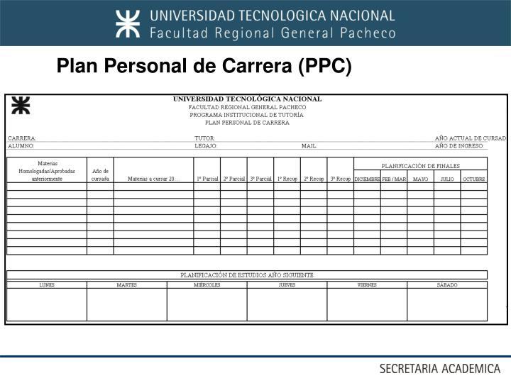 Plan Personal de Carrera (PPC)