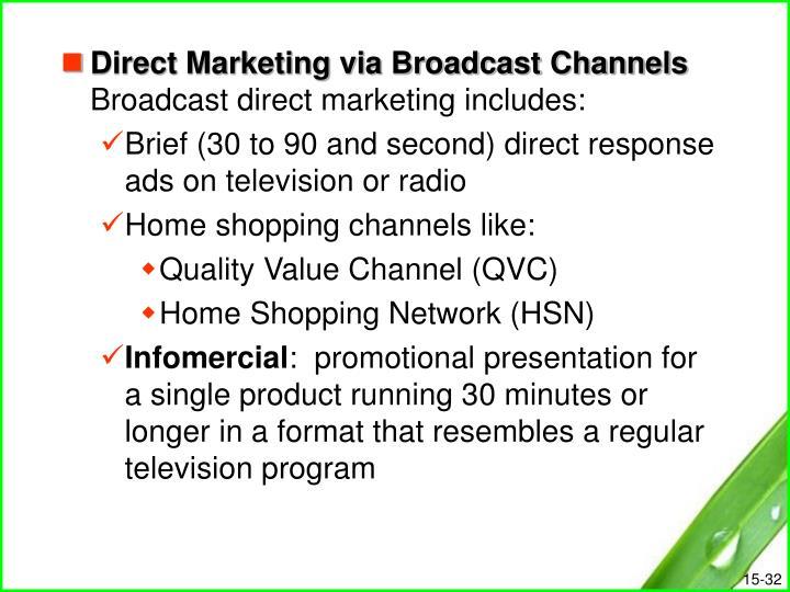 Direct Marketing via Broadcast Channels