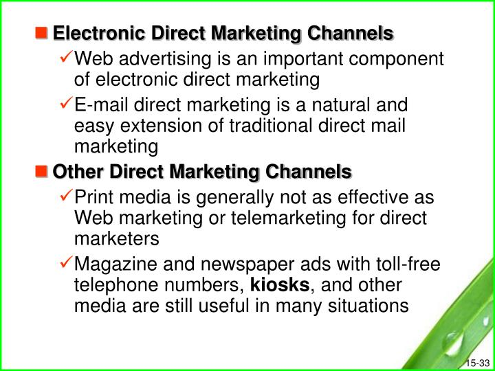 Electronic Direct Marketing Channels