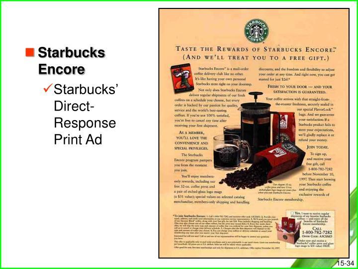 Starbucks Encore