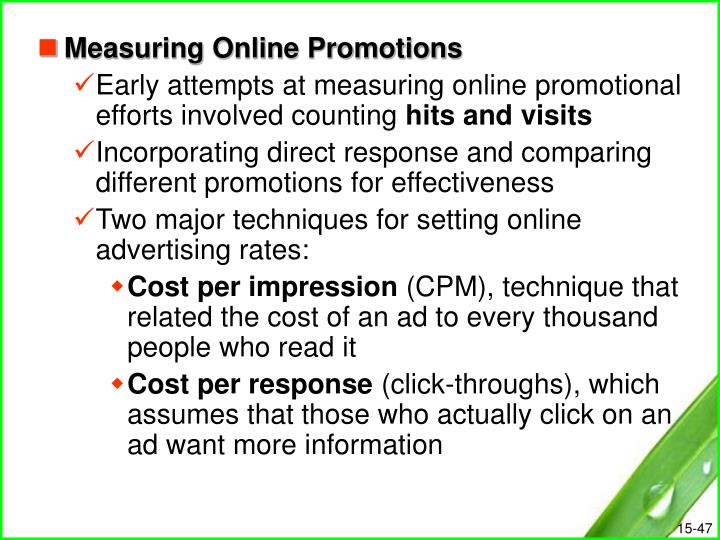 Measuring Online Promotions