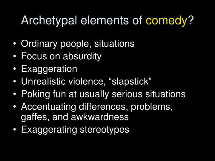 Archetypal elements of