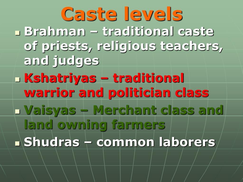 Caste levels