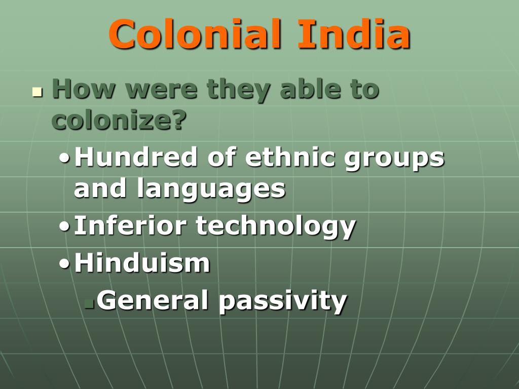 Colonial India