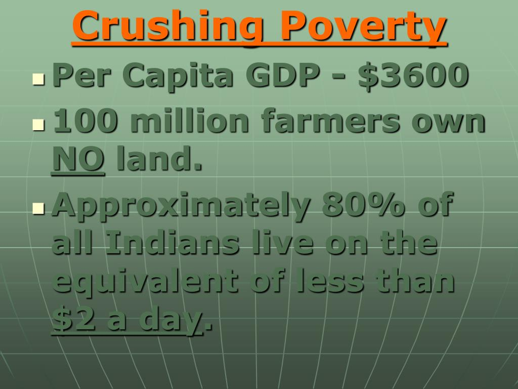 Crushing Poverty