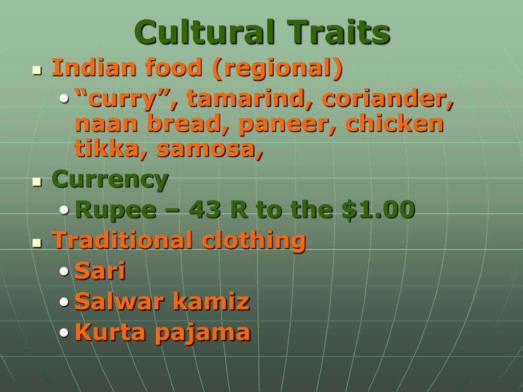 Cultural Traits