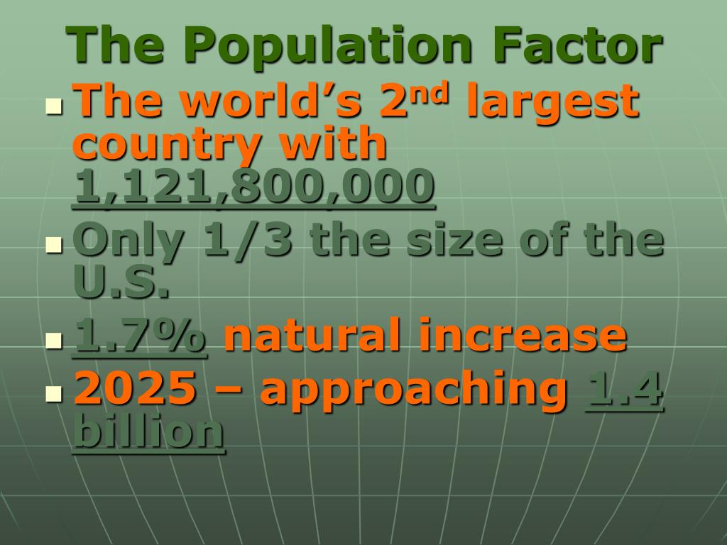The Population Factor