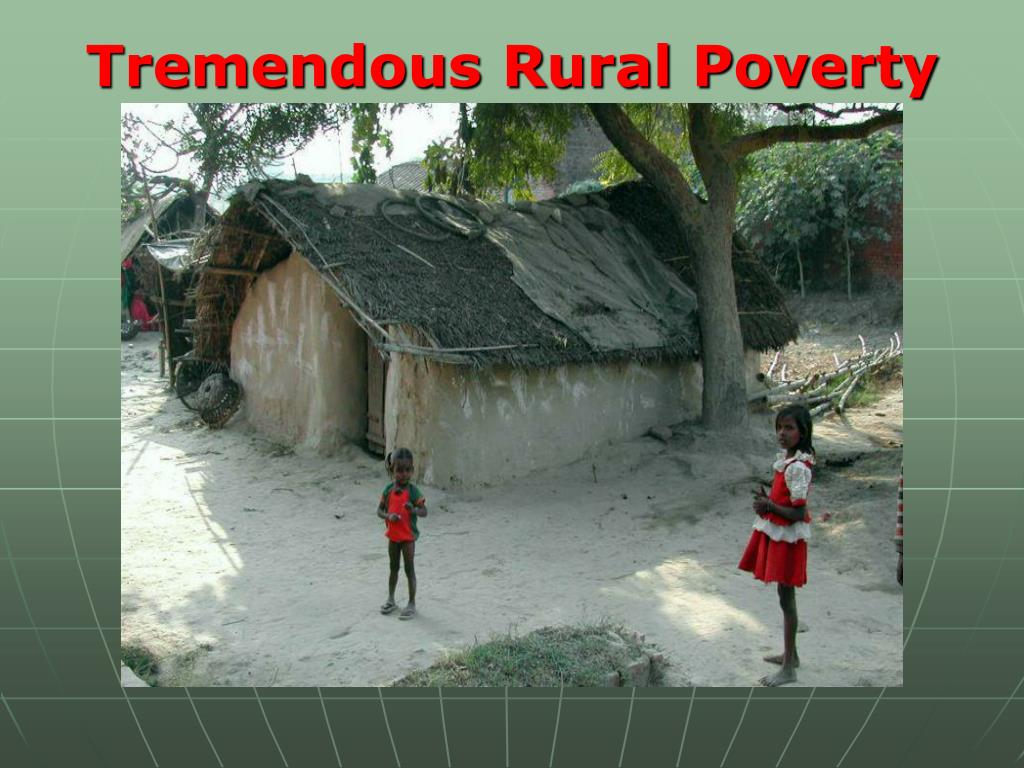 Tremendous Rural Poverty