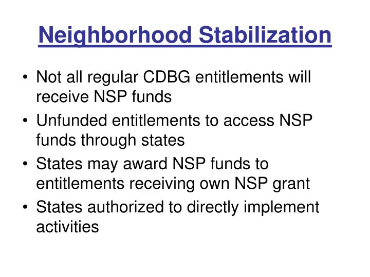 Neighborhood stabilization1