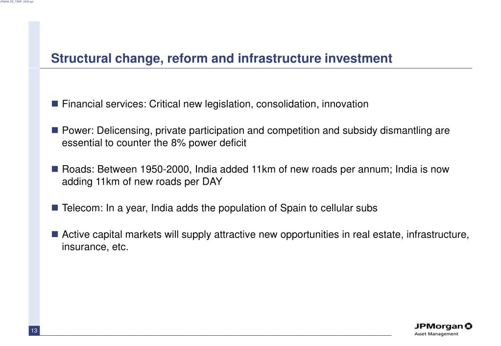 Structural change, reform and infrastructure investment