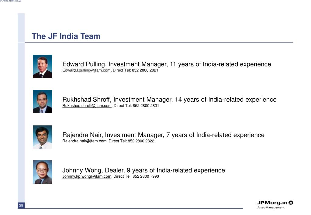 The JF India Team