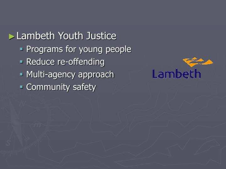 Lambeth Youth Justice