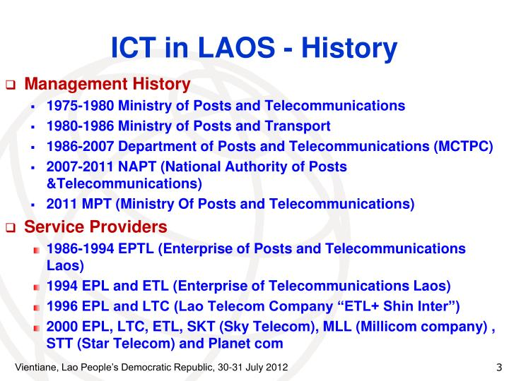 Ict in laos history