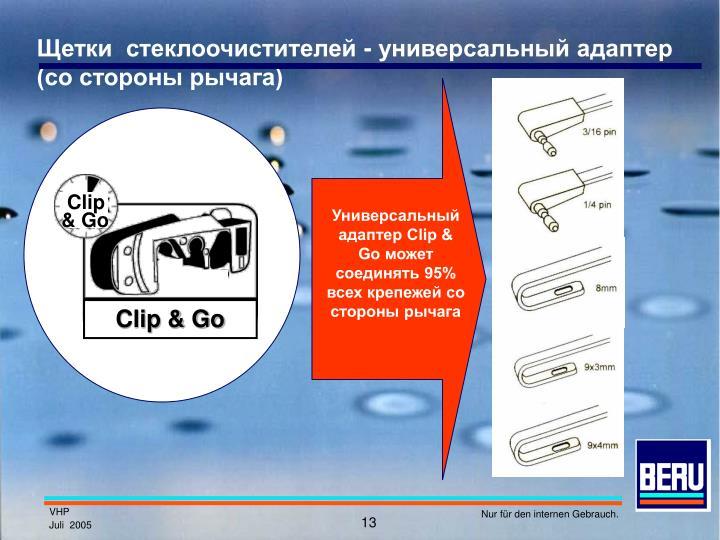 Щетки  стеклоочистителей - универсальный адаптер (со стороны рычага)