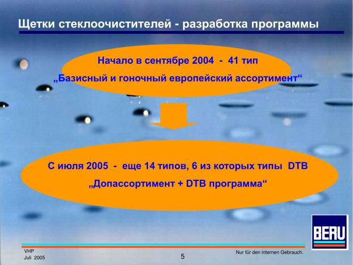 Щетки стеклоочистителей - разработка программы