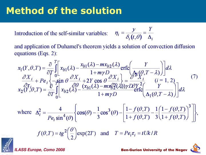 Method of the solution