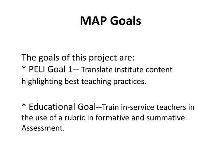 MAP Goals