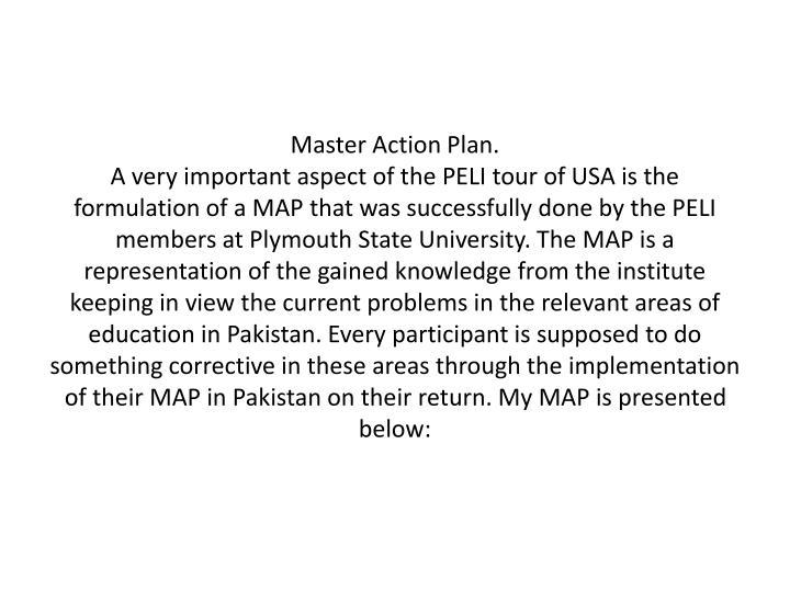 Master Action Plan.