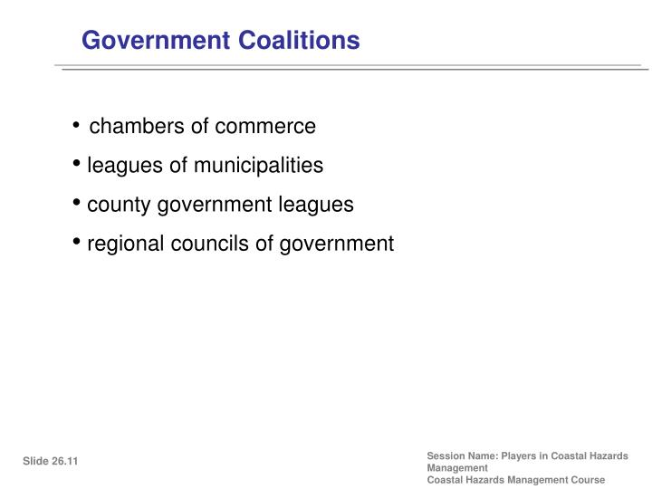 Government Coalitions