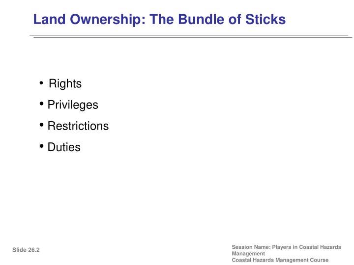 Land Ownership: The Bundle of Sticks